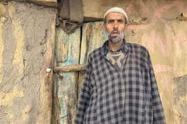 Shareef Ahmad Bajad, a Gujjar in Kanidajan village whose apple orchard was felled by authorities in central Indian-administered Kashmir for 'illegally occupying forest land' [Rifat Fareed/Al Jazeera]