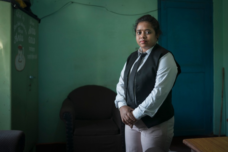Sinaj Khatun, 31, the first graduate of Kolkata's School For Justice programme [Photo courtesy of Free a Girl]