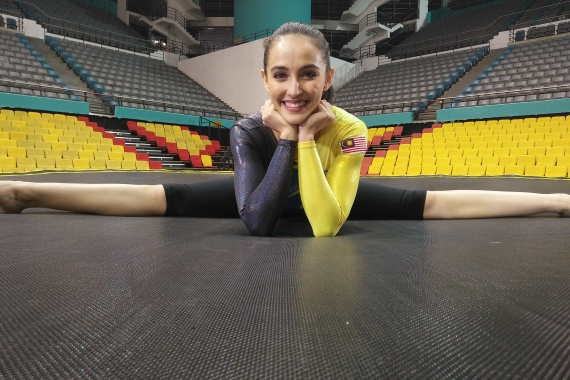 Malaysia's Farah Ann Abdul Hadi was thrilled to qualify for Tokyo. She has used the delay to perfect her skills and routines [Kubrina Dass/Al Jazeera]