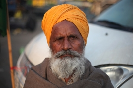 """We came along with all of our family members to be a part of this protest,"" 70-year-old farmer Rathyard Singh from Haryana state said. [Vikar Syed/Al Jazeera]"