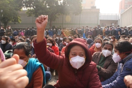 The protesting health workers at All India Institute of Medical Sciences have put forth 23 demands [Bilal Kuchay/Al Jazeera]