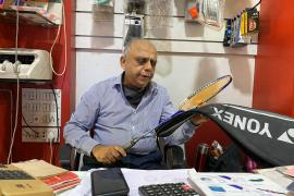Manohar Wagle, 62, owner of the Wagle Sports shop in Mumbai, says his small business was forced to respond to a sudden shift in shopping habits as customers sought to shop online due to the coronavirus pandemic [File: Tish Sanghera/Al Jazeera]