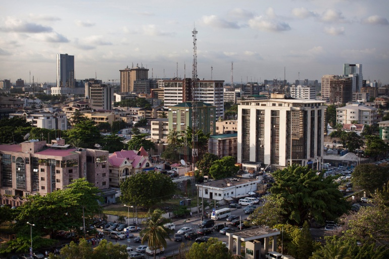 A view of buildings in the affluent Victoria Island district of Lagos [File: Reuters]