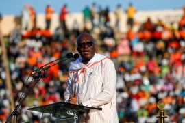 Kabore, first elected in 2015, won 57.7 percent of the vote on November 22 [File: Zohra Bensemra/Reuters]
