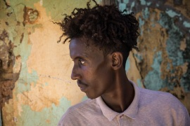 """I am just a student. When the violence broke out, I ran for my life, and left my mother and sister behind. I am too scared to go back to Tigray,"" said Younas, an Ethiopian refugee sheltering in Sudan. [Ingebjorg Karstad/NRC]"
