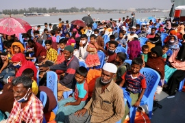 Bangladesh moves Rohingya to remote island