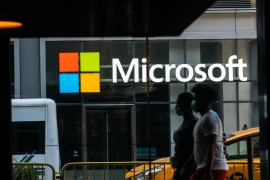 Microsoft said on Thursday it had detected unusual activity with a small number of internal accounts but upon investigating, discovered no changes had been made [File: Bloomberg]