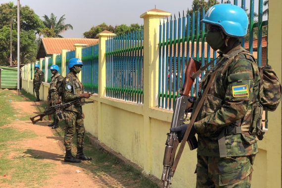 UN peacekeeping force MINUSCA has almost 12,000 military personnel in the country [Evelyn Kahungu/Al Jazeera]