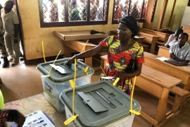 The election will go to a second round if no candidate receives more than 50 percent of the vote [Evelyn Kahungu/Al Jazeera]