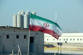 Iran's Bushehr nuclear power plant is the country's only nuclear power station and is currently running on imported fuel from Russia that is closely monitored by the UN's International Atomic Energy Agency [File: Atta Kenare/AFP]