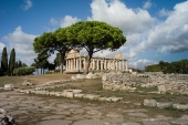 Paestum, originally a Greek colony that was later conquered by the Romans, boasts three of the best-preserved Greek temples in the world [File: AFP]