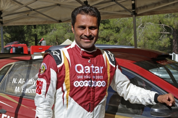 Al-Attiyah, 50, won the reincarnated race in 2011, 2015 and 2019 [Christina Assi/AFP]