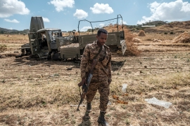 The two sides held border talks last month, and Sudan declared its army had restored control over all border territory that had been taken over by Ethiopian farmers [File: Eduardo Soteras/AFP]