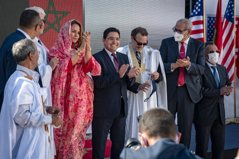 US Ambassador David Fischer on Sunday began the process of establishing a consulate in the Western Saharan city of Dakhla [Fadel Senna/AFP]