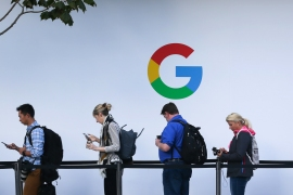 Peter Lewis, a technology expert, says Google's threat is part of a pattern of behaviour that is chilling for anyone who values democracy [File: Elijah Nouvelage/AFP]