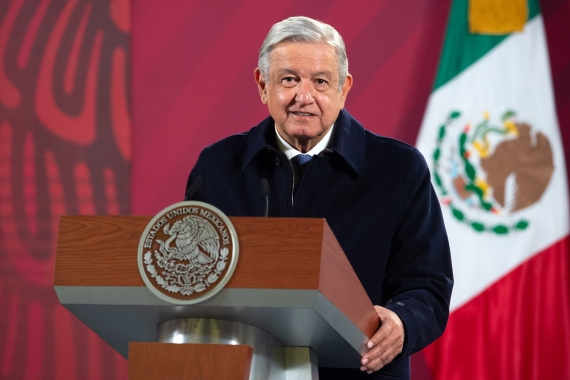 Andres Manuel Lopez Obrador said his symptoms are mild and he is receiving medical treatment [File: Mexican Presidency/ Handout via AFP]