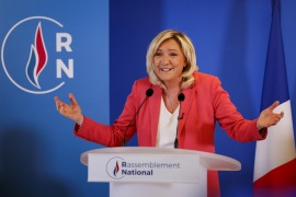Despite recent setbacks for fellow ideologues such as Donald Trump and Matteo Salvini in Italy, a survey earlier this week showed Marine Le Pen within striking distance of President Macron [Thomas Samson/AFP]