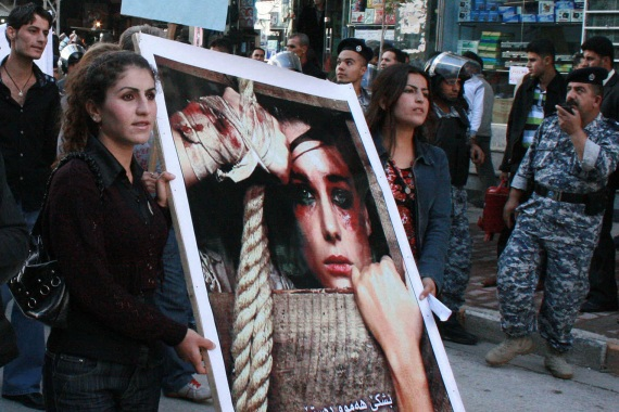 Violence against women - including honour crimes, domestic violence and trafficking - is on the rise in the Kurdish region of northern Iraq, according to women's rights groups [File: Safin Hamed/AFP]