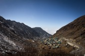 A general view of the northeastern Indian state of Sikkim bordering China [File: Agnes Bun/AFP]