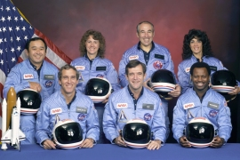 NASA's Space Shuttle Challenger crewmembers are seen in this undated handout photo taken at Johnson Space Center in Houston, Texas [File: NASA/Handout/Reuters]