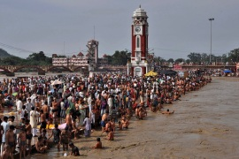 This year, Haridwar plays host to the festival and several million people are expected to throng the holy city in Uttarakhand state [File: Reuters]