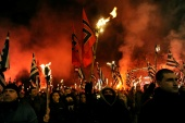 Golden Dawn leaders were convicted in October of running a criminal organisation [File: Michalis Karagiannis/Reuters]