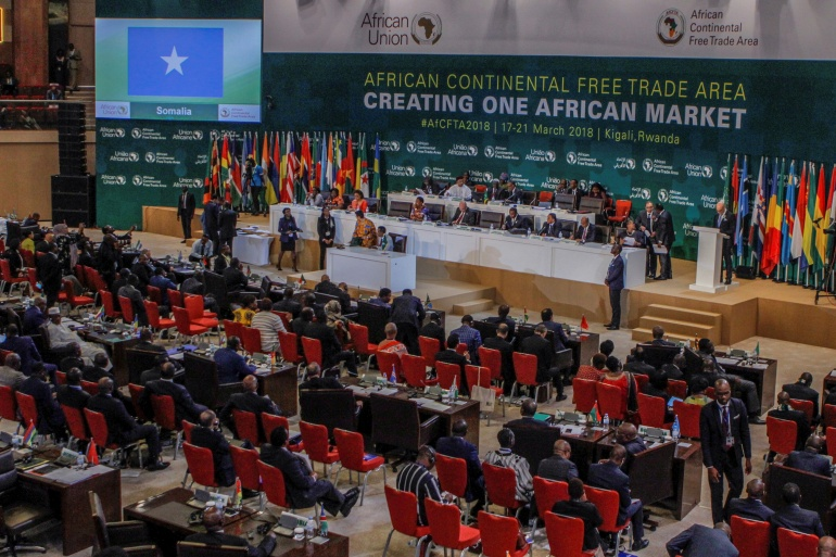 The World Bank estimates AfCFTA could lift tens of millions out of poverty by 2035 [File: Jean Bizimana/Reuters]