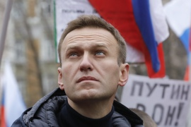 Navalny, 44, has been convalescing in Germany from an alleged nerve agent poisoning in August that he has blamed on the Kremlin [File: Tatyana Makeyeva/Reuters]