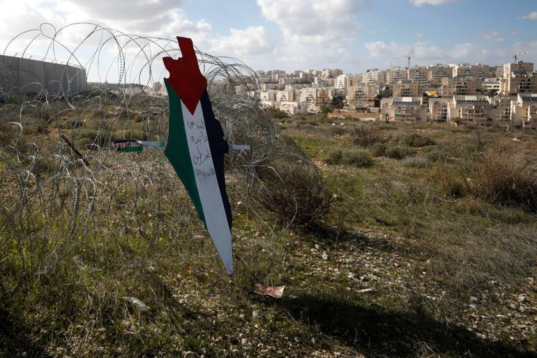 The international community widely considers Israeli settlements to be illegal under international law [Mohamad Torokman/Reuters]