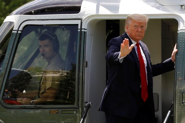 Donald Trump is planning an elaborate sendoff from Washington, DC just prior to Joe Biden's swearing-in next Wednesday [File: Yuri Gripas/Reuters]