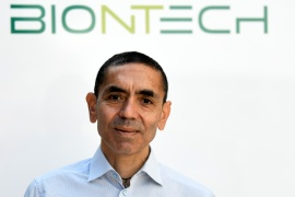 Ugur Sahin founded BioNTech with his wife, Oezlem Tuereci, who is the company's chief medical officer [File: Fabian Bimmer/Reuters]