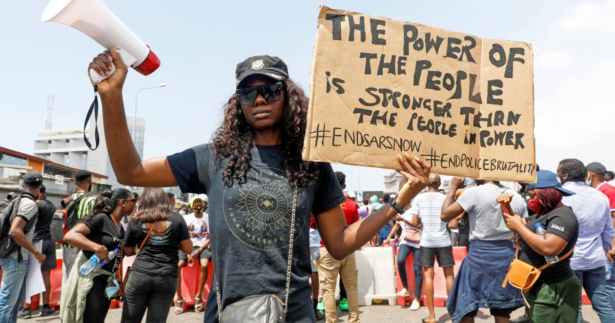 Nigerian youth demanding change - Al Jazeera