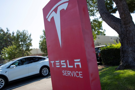 Several carmakers are slated to release new electric vehicle models this year, charging up the competition for Tesla [File: Mike Blake/Reuters]