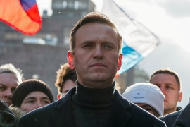 Navalny was airlifted to Germany for treatment in August after collapsing on a plane in what Germany and other Western nations say was an attempt to murder him with a Novichok nerve agent [File: Shamil Zhumatov/Reuters]