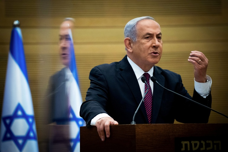 Netanyahu's trial began last year and is scheduled to resume next month [File: Yonatan Sindel/Reuters]