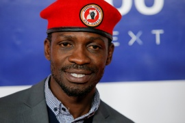 Bobi Wine attends the First Annual 'Time 100 Next' gala in New York City, US, November 14, 2019 [File: Eduardo Munoz/Reuters]