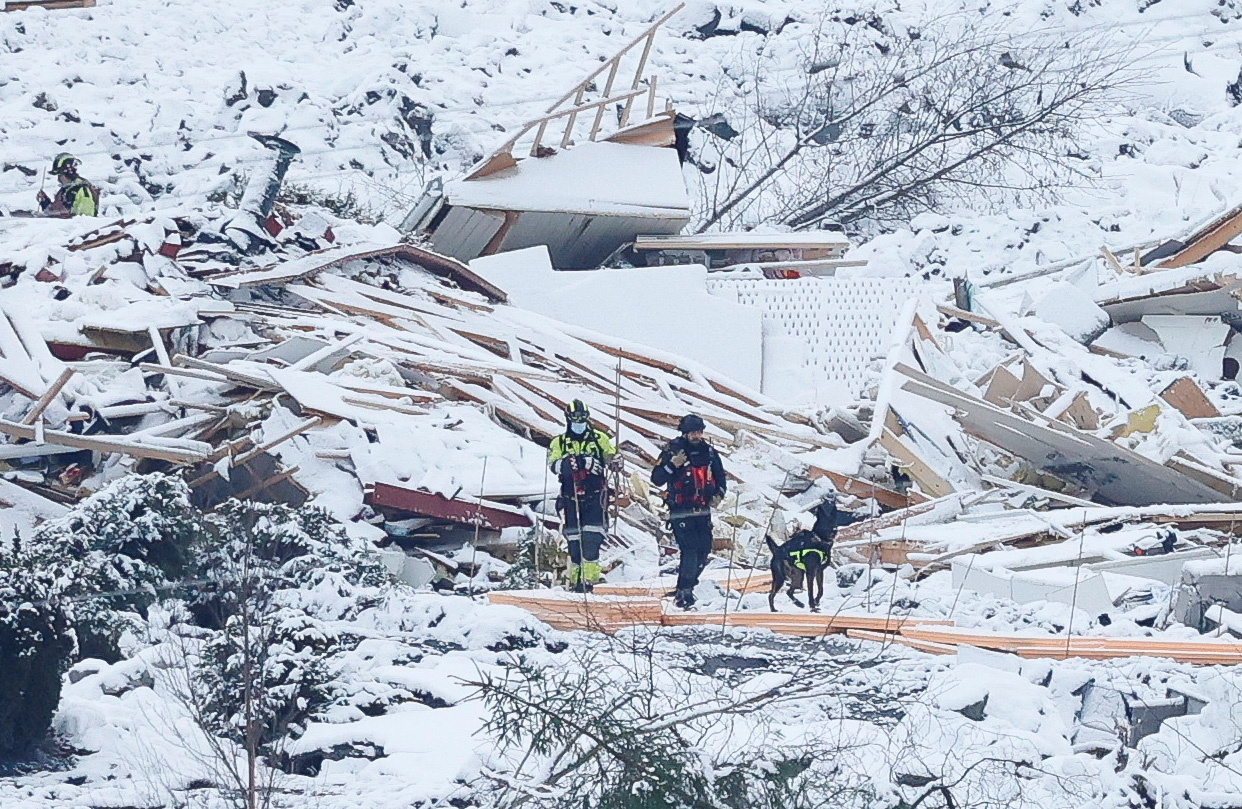 Norway landslide: Second body found as rescue mission continues