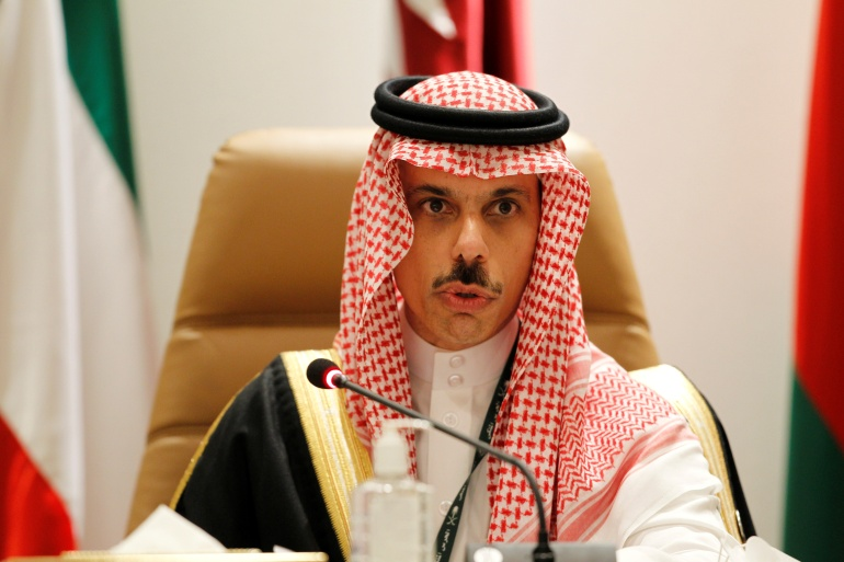 Saudi Arabia's foreign minister says the kingdom envisages normalisation of ties with Israel in exchange for the creation of a Palestinian state within the 1967 borderlines [File: Ahmed Yosri/Reuters]