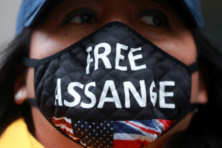 Assange is facing possible extradition to the US from the United Kingdom over a range of charges relating to WikiLeaks' release of confidential US military records and diplomatic cables a decade ago [File: Hannah McKay/Reuters]