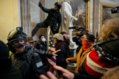 Pro-Trump protesters stormed the Capitol building on January 6 [File: Ahmed Gaber/Reuters]