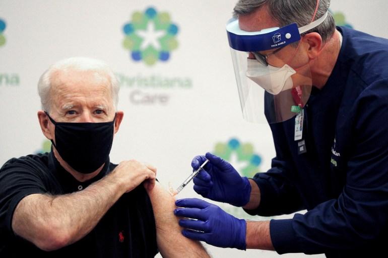 Biden gets second COVID jab as US ramps up vaccinations | Coronavirus pandemic News | Al Jazeera