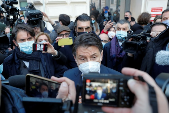 Giuseppe Conte has been in office since 2018 [File: Reuters]