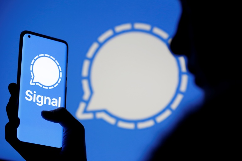 In a tweet, Signal said it has been 'working around Iran's censorship' since the app became the top downloaded content in Iranian app stores [Dado Ruvic/Reuters]