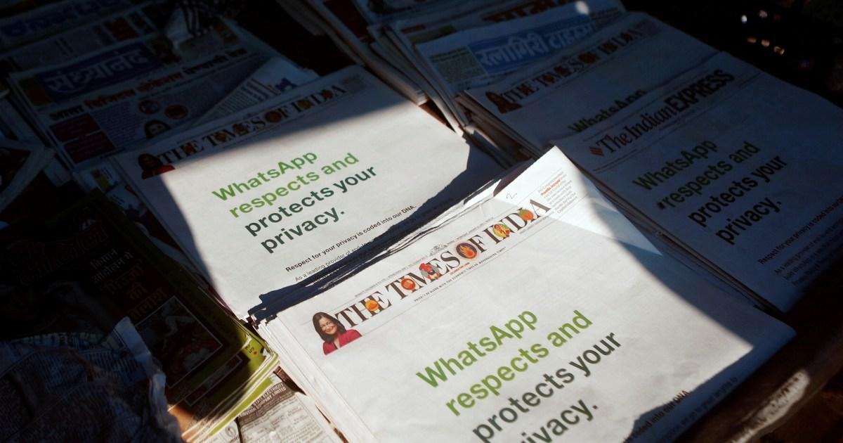 WhatsApp battles privacy concerns in India – its biggest market | Media News | Al Jazeera