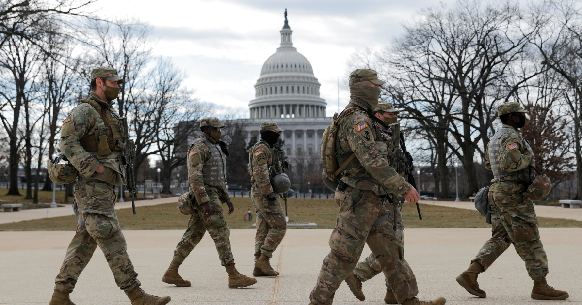 In Pictures: Troops, riot fencing and razor wire in Washington DC