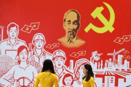 The 13th National Congress of the ruling Communist Party of Vietnam, is due to get under way in Hanoi on Monday [Kham/Reuters]