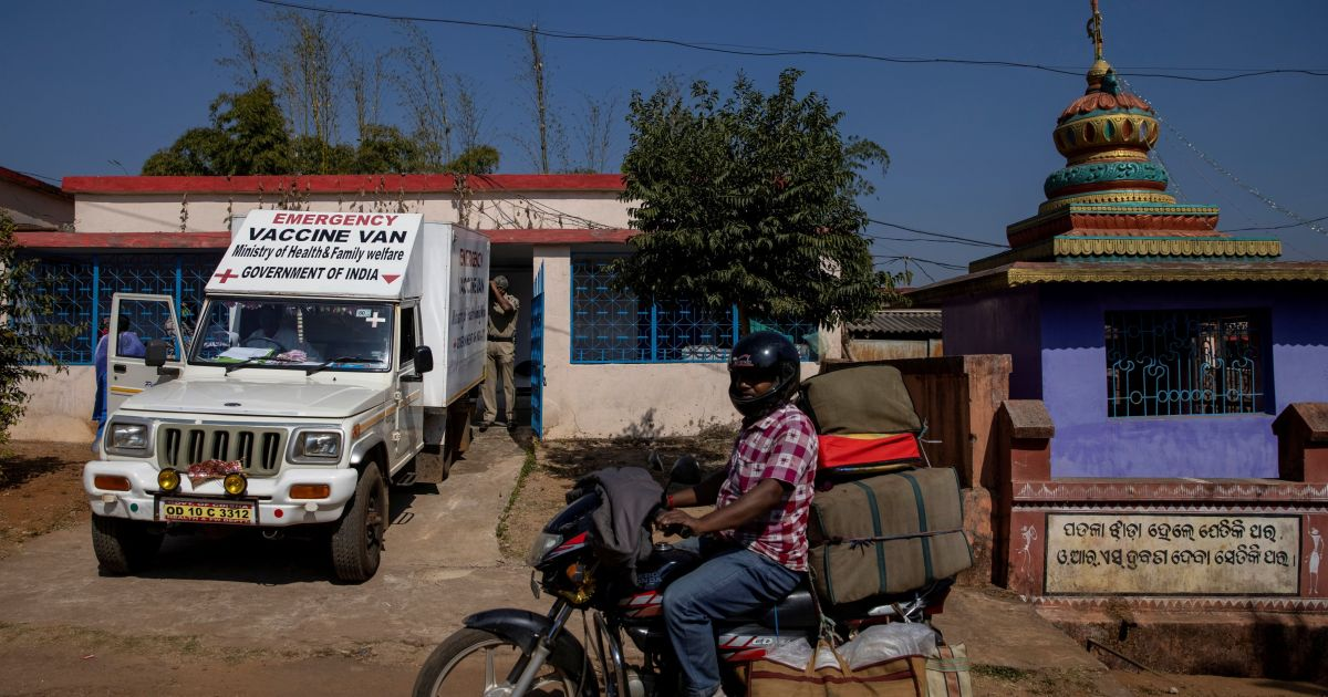 Pictures: How COVID vaccine travelled 1,700km to an Indian village