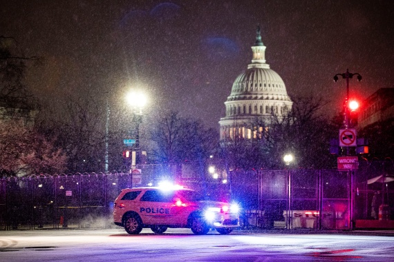 Top US Capitol security officials apologised on Tuesday for 'failings' during the deadly attack on the building by former President Donald Trump's supporters [Al Drago/Reuters]