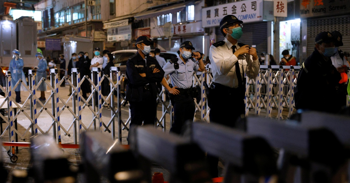 Hong Kong's Lam praises sudden lockdown that discovered one COVID case