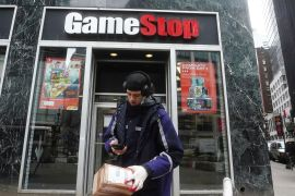 GameStop said it may sell up to 3.5 million shares worth no more than $1bn, and use the proceeds to hasten its shift to e-commerce [File: Carlo Allegri/Reuters]